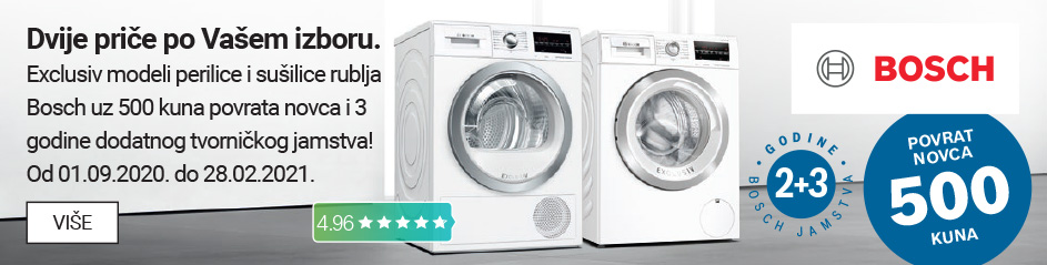 Bosch perilice i sušilce povrat 500 kuna